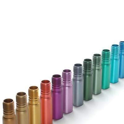anodizado de proteccion con diferentes colores