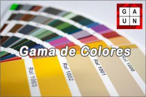 Gama de colores anodizados gaun