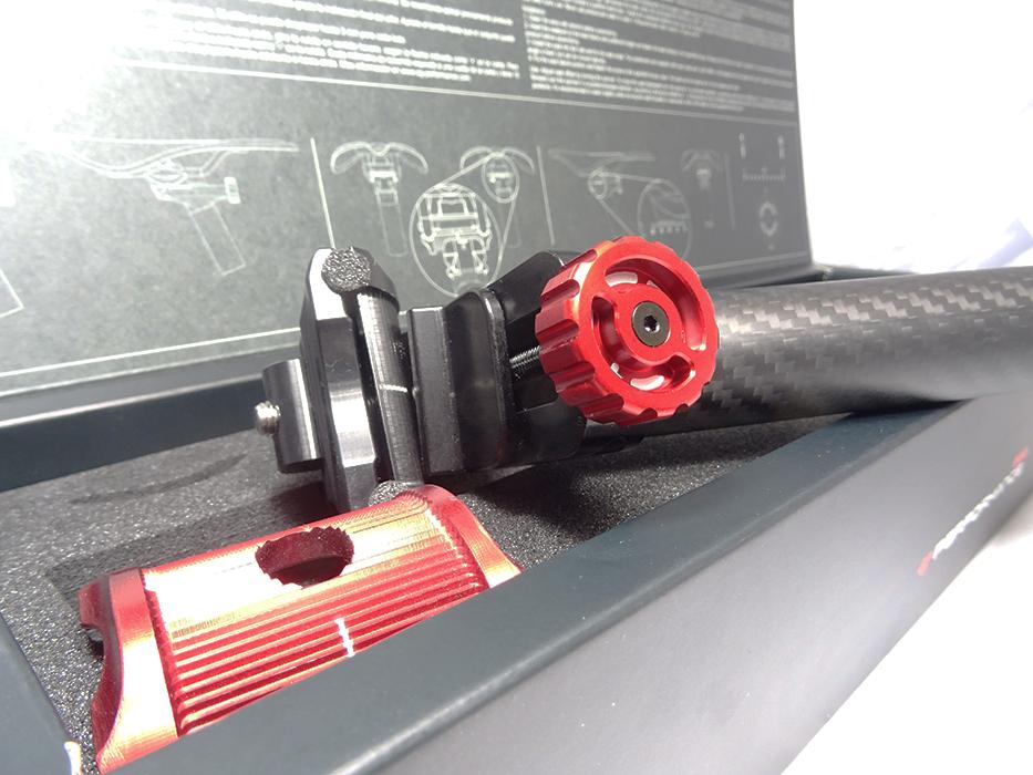 Anodizado de color rojo y negro Gaun